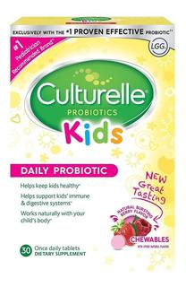 Culturelle Kids Probiótico Uso Diário 30 Chewable Tablets