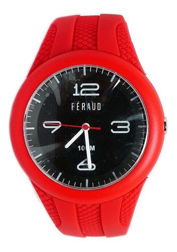 Reloj Feraud F100m6-01 Hombre Sumergible 100m Silicona