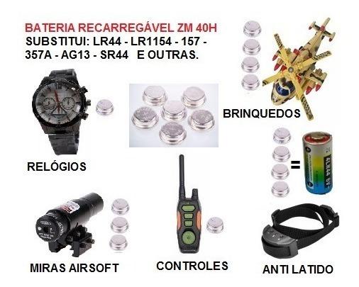 6 Baterias Recarregável Zm 40h Substitui: 4lr44 Lr44 Ag13 Sr44