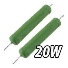 10 Resistores De Fio 100r 20w 5% Knp/20w