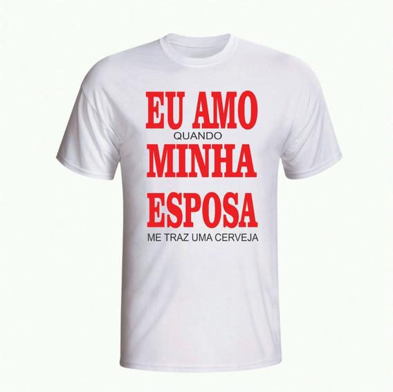 Camiseta Eu Amo Minha Esposa - Camisas Engraçadas