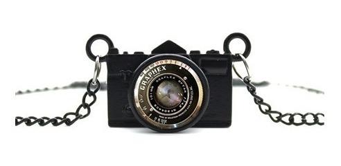 Colar Longo Câmera Fotográfica Vintage Foto Instagram Unisex