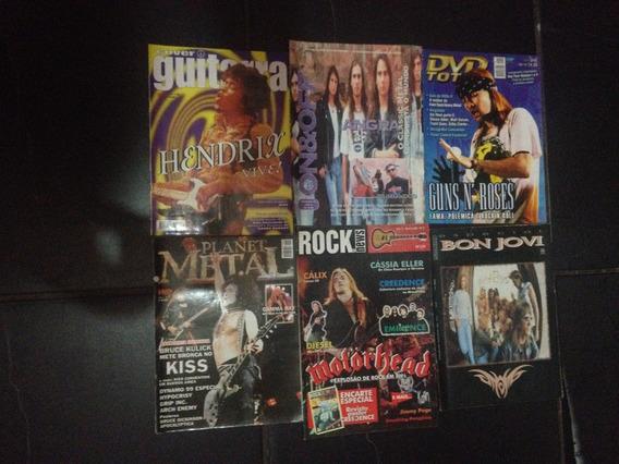 6 Revistas Rock: Cover Guitar/planet Metal/rock News,etc