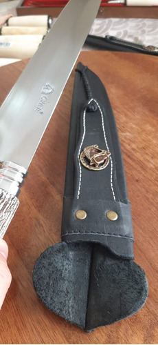 Faca Artesanal Gaúcha Para Churrasco - Aço Inox 12'