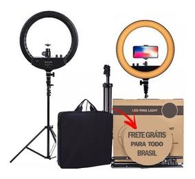 Ring Light Led Bicolor 2 Dimmer+ Tripé Maquiagem Selfie