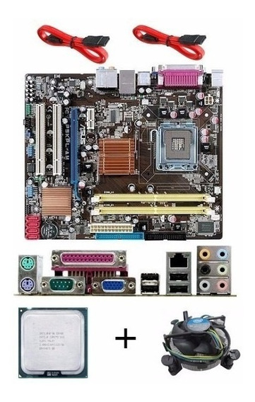 Kit Placa Mãe Asus P5kpl Am 775 Ddr2 + Dual Core E5800 + 2gb