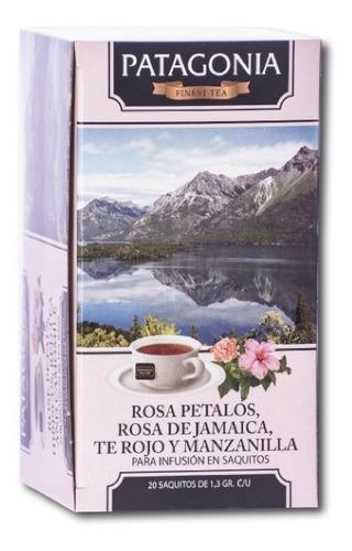 Imagen 1 de 2 de Te Patagonia Premium X 20 Saq. Rosa Petalos Te Rojo