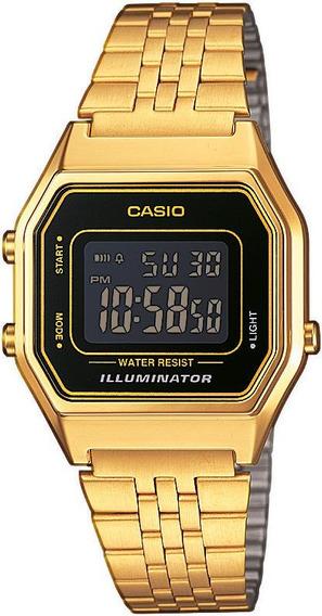 Relógio Casio Unissex Vintage La680wga-1bdf Dourado Digital