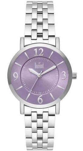 Relógio Dumont Feminino Ref: Du2035lwb/4k Social Prateado