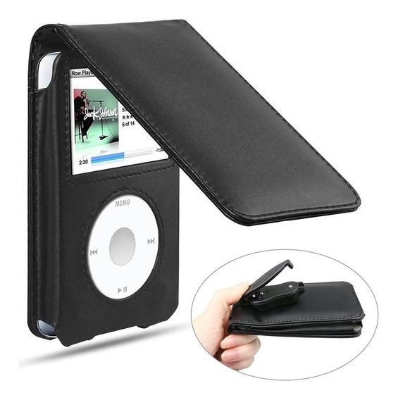 Capinha Case Flip Couro Apple iPod Classic 80g 120g 160g 7th