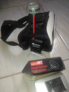 Óculos Virtul Vr Box+eachine Otg+lentes De Vidro+antena+usb
