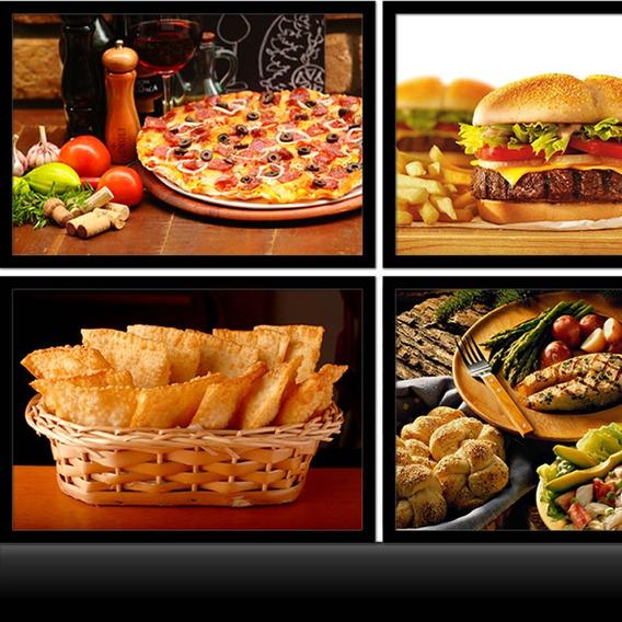 Quadro Culinária Lancherias Pizzarias Cozinhas Restaurante 4
