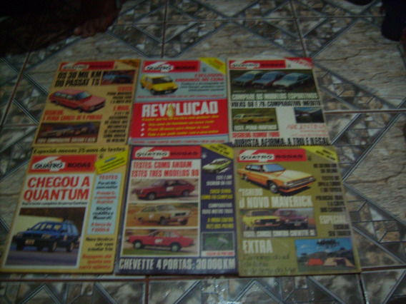 Lote Com 37 Revistas Quatro Rodas