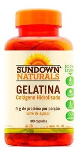 Gelatina Colágeno Hidrolisado - 100 Cápsulas - Sundown