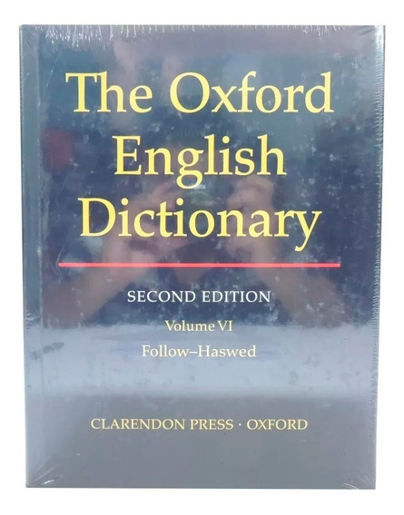 Livro The Oxford English Dictionary 2nd Vol. 6 Em Inglês