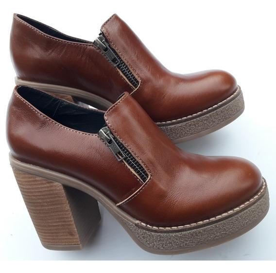 Botas Botinetas Zapatos Cuero Vacuno Zuca Doble Cierre L706