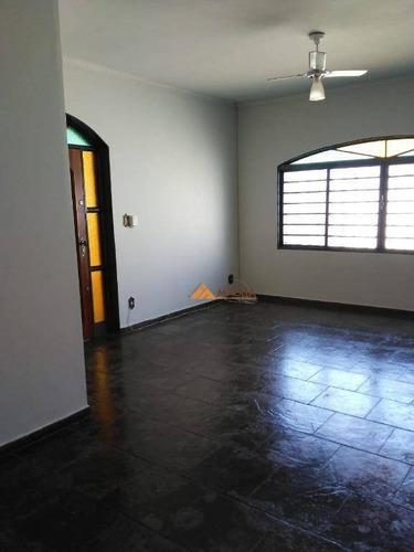 Casa Com 3 Dormitórios Para Alugar, 123 M² Por R$ 1.600,00/mês - Vila Monte Alegre - Ribeirão Preto/sp - Ca2467