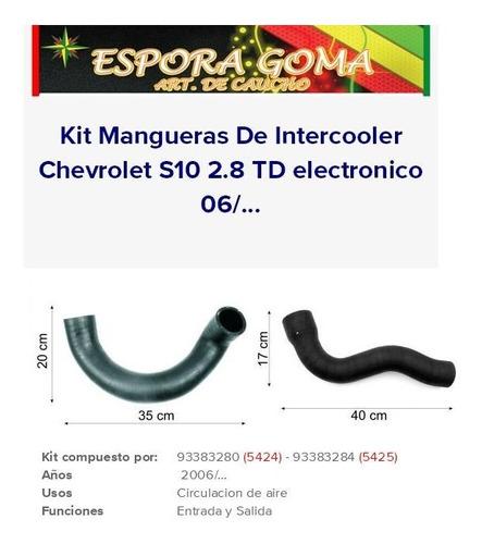 Kit Mangueras Intercooler S10 Blazer 2.8 Turbo Diesel Electronico 5424 5425