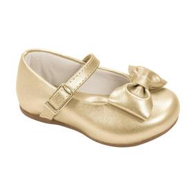 Sapato Pampili Angel Dourado Fosco