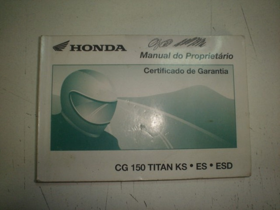 Manual Moto Honda Cg 150 2004 2005 Titan Sport Job Original