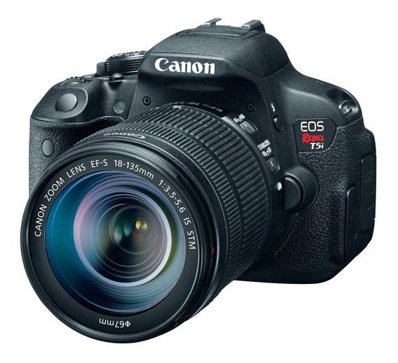 Câmera Digital Canon Eos Rebel T5i Impecável Um Mês De Uso