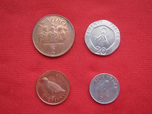 Imagen 1 de 2 de Gibraltar Lote De 4 Monedas Diferentes