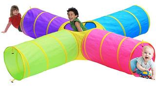 Túneles De Juego Para Niños Hide N Side Para Uso En Interior