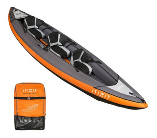 Kayak Inflable De 3 Personas Hasta 230kg Resistente