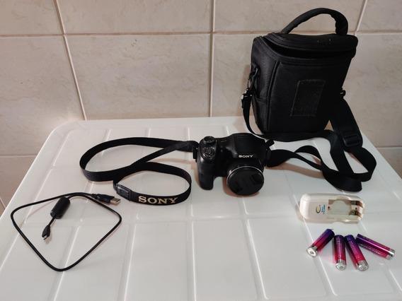 Câmera Sony Cyber-shot Dsc-h100 Em Ótimo Estado