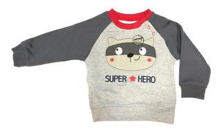 Polerón Bebé Niño Super Hero Abrigado Invierno / Stgo. Boxer