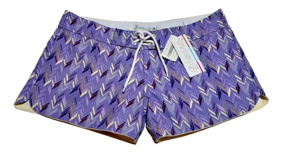 Short Mujer Dama Squalo 100% Original Playa Ropa Deportiva Traje Baño Bermuda Bikini Negro Azul Tinto Morado Gris Naranj