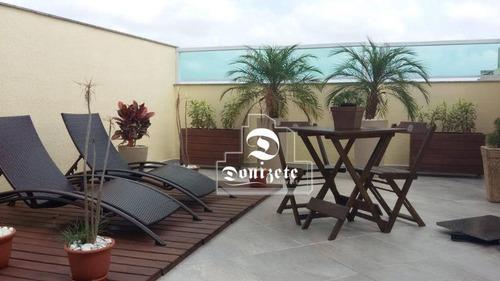 Cobertura Com 2 Dormitórios À Venda, 100 M² Por R$ 414.000,00 - Vila Camilópolis - Santo André/sp - Co10953
