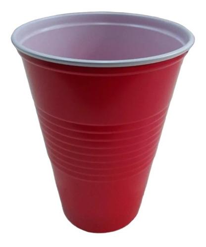 Vaso Previa Beer Pong 500cc Plastico Grande X25 Unidades