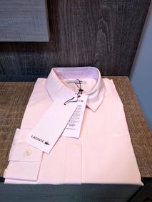 Camisa Lacoste Feminina Rosa Manga Longa - Nova E Original