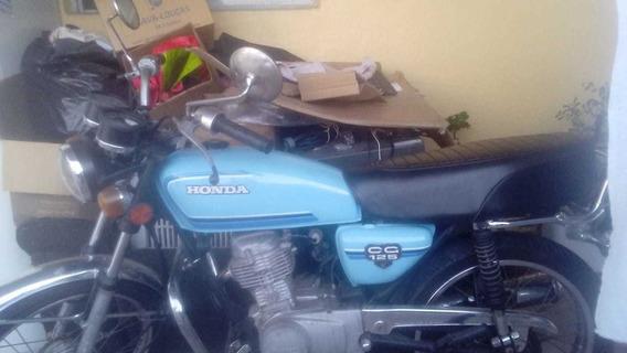 Moto Antiga Único Dono - Cg 125 Azul Claro