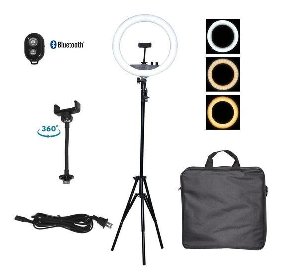 Aro Luz Led 34 Cm Nueva Tecnología + Control Bluetooth + Tri