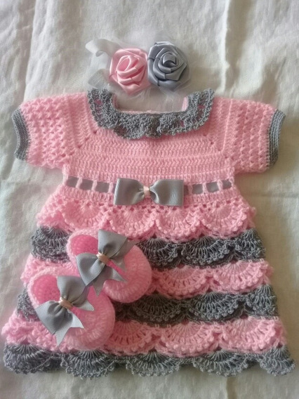 Vestido Tejido Para Bebe De 0 A 3 Meses Leer Descrpcion