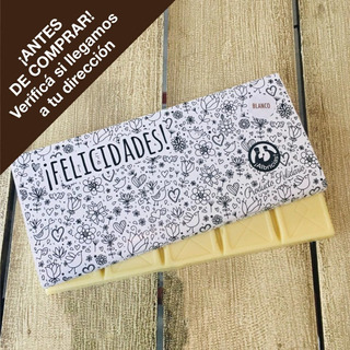 Tableta Artesanal Albricias 130 Grs. Chocolate Blanco