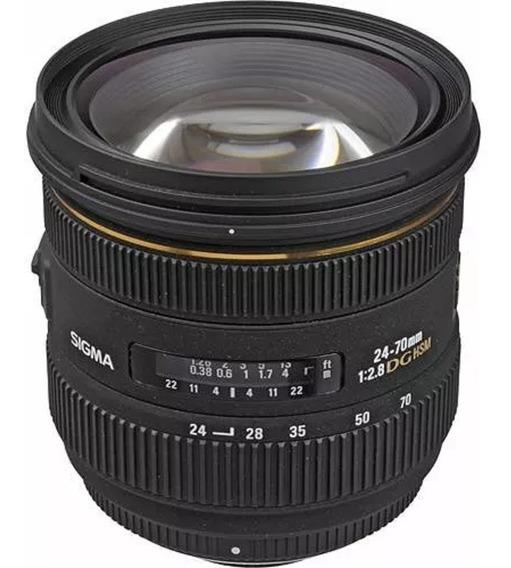 Lente Full Frame Sigma 24-70mm Para Canon