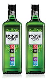 Kit Whisky Passport Scotch 1l - 2 Unidades