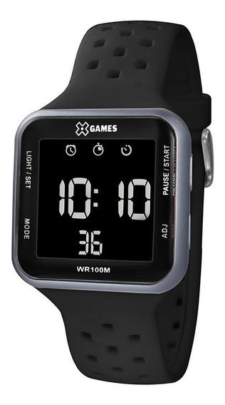 Relógio Masculino Xgame Quadrado Digital Cinza Xgppd091