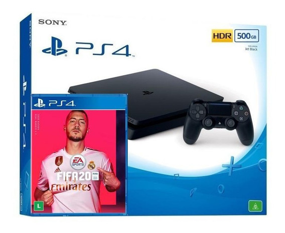 Ps4 Playstation 4 Slim 500gb + Fifa 20 Em Campinas Sp Com Nf