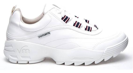 Zapatillas Mujer Blancas Vía Marte 19-4403 Importadas