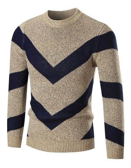 Cardigan Casaco Blusa Tricot Lã Masculina Canelada Ref: 817