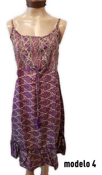 Vestido Hindu Corto Bordado Super Bohemio Modelo 4