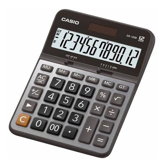 Calculadora Casio De Mesa Grande Dx-120b-w-dc 12 Digitos