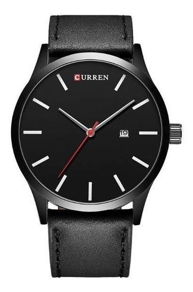 Relógio Masculino Curren Preto 1 Ano De Garantia 12x S/juros