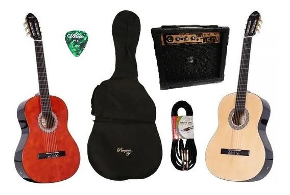 Guitarra Criolla Electroacustica Parquer Amplificador 10w