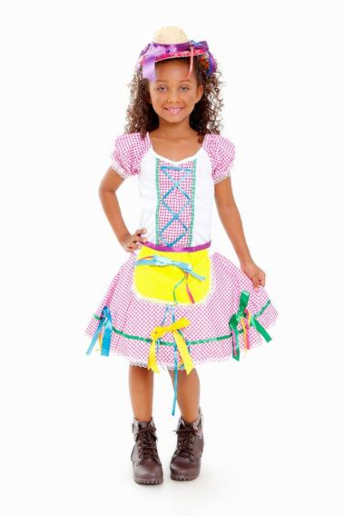 Vestido Festa Junina,roupa,caipira,junino,quadrilha Infantil