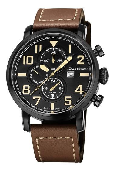 Relógio Jean Vernier Pioneer Jv11541 (ds) Suiço + Garantia